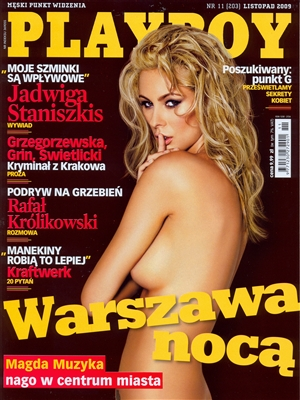 Cover Playboy Poland November 2009