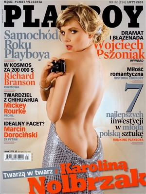 Cover Playboy Poland February 2009