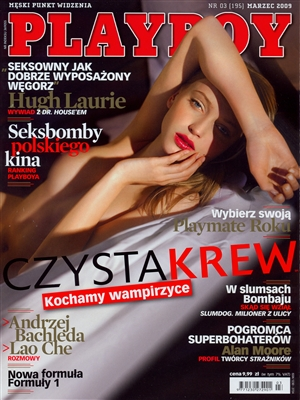 Cover Playboy Poland March 2009